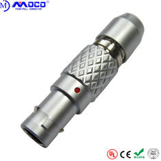 Metal male circular push pull connectors Standard Straight Automotive FGG 8pin plug